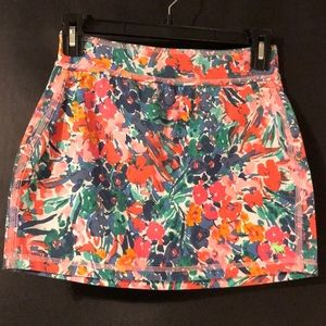 A&F Multicolor Floral Skirt